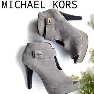 MICHAEL KORS suede platform ankle booties